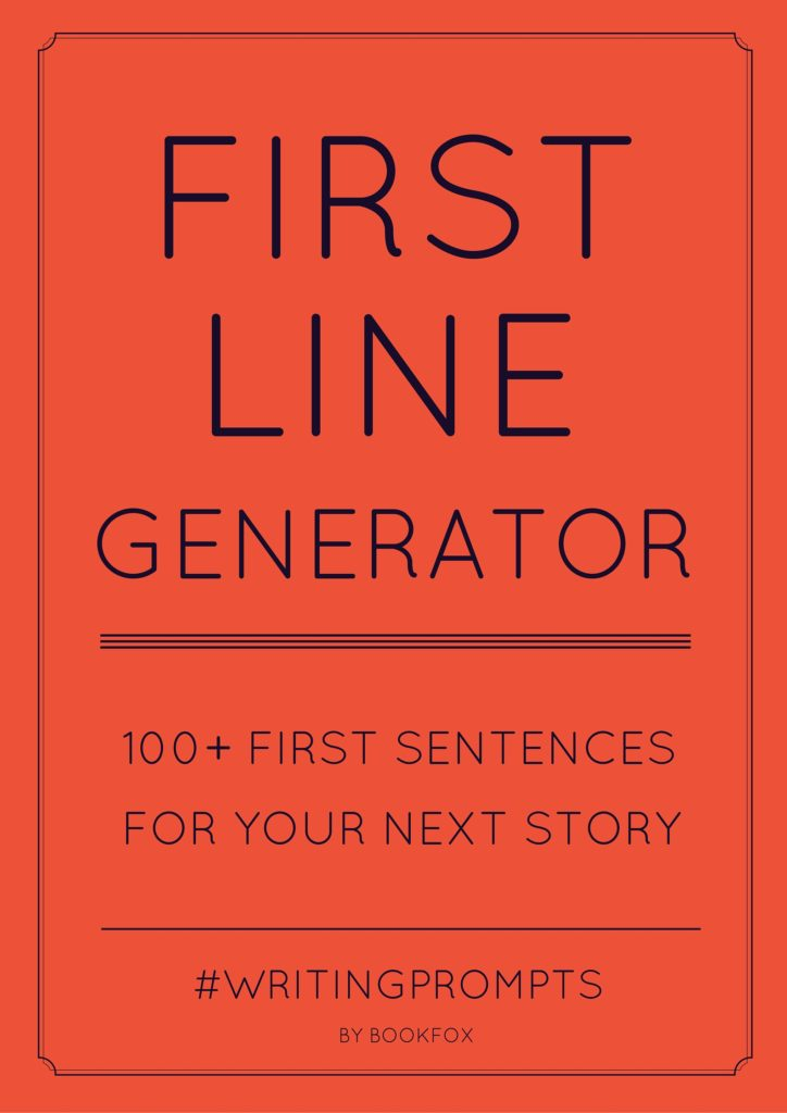 First Line Generator: 100+ First Sentences to Spark Creativity