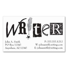 Business cards for writers examples arts arts 50 surprising and unusual gifts for writers no coffee mugs bookfox staff picks business cards colourmoves