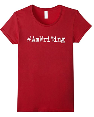 #amwriting hashtag writing shirt
